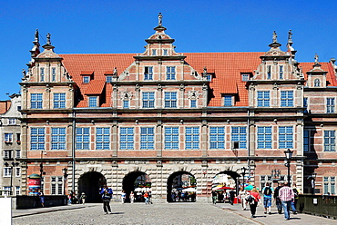 Historic Old Town of Gdansk with the Greens gate at the Long Market