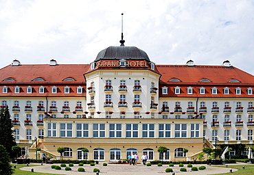 Grand Hotel on the beach of the Baltic resort of Sopot in Poland, Caution: For the editorial use only. Not for advertising or other commercial use!.