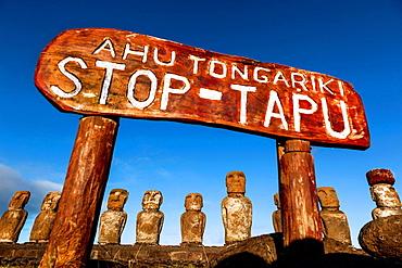 Ahu tongariki in easter island.