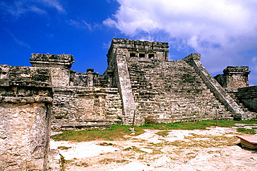 The Famous Tulum Ruins and Landmark of Mexico.