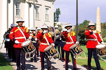 Colorful Regiment Band in Bermuda.