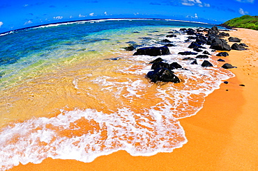 Larsen's Beach, North Shore, Island of Kauai, Hawaii USA.
