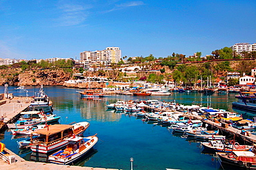 ships in the harbour, Antalya, Turkey, Western Asia.