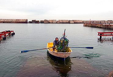 underwater Santa Klaus, Black sea, Odessa, Ukaine.