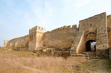 The fortress Akkerman from the Dniester Liman (white rock, white fortress), Belgorod-Dnestrovskiy, Ukraine, Eastern Europe.