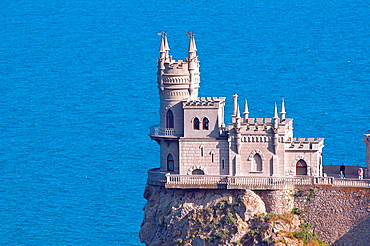 Built in 1912, the Swallow's Nest is one of the Neo-Gothic chateaux, Cape of AiaÄìTodor, The Greater Yalta, Crimea, Ukraine, Eastern Europe.