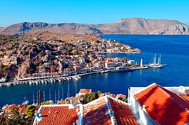 Landscape island Symi, Greece.