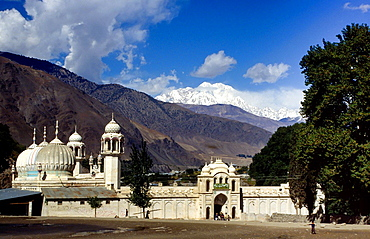 the famous mosque in Chitral, Pakistan