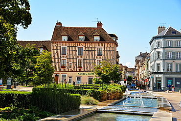 the centre of Troyes in france