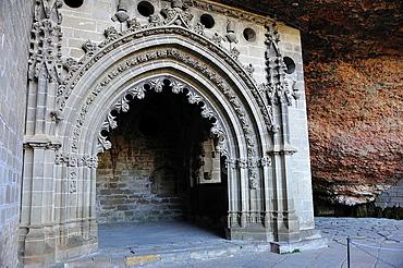 Gothic chapel of San Juan de la Pena, Huesca province, Spain