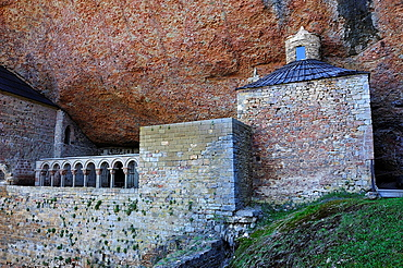 Romanesque cloister of San Juan de la Pena, Huesca province, Spain