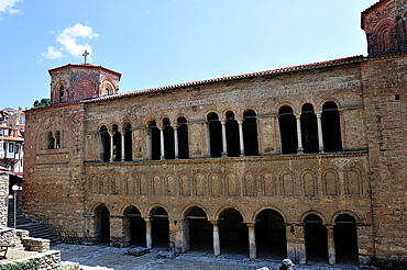Facade of Orthodox church of Santa Sofia, Orhid, Macedonia