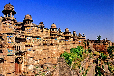 Man Singh Palace, XV-XVI century, Gwalior, Madhya Pradesh state, India