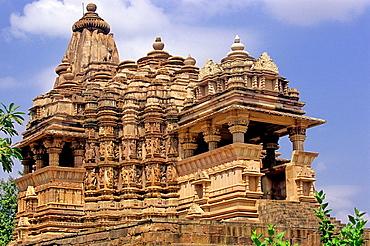 Temple, X-XI centuries, Khajuraho Group of Monuments, UNESCO World Heritage Site, Madhya Pradesh, India, Asia.