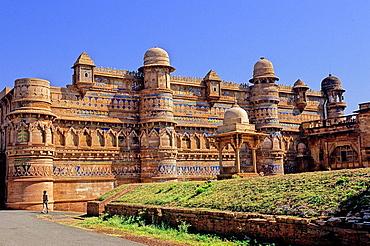 Man Singh or Royal Palace, XV-XVI centuries, Gwalior, Madhya Pradesh, India, Asia.