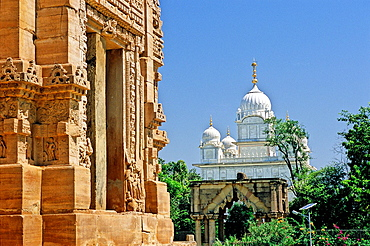 Teli-ka-Mandir temple and sikh gurdwara, IX century, Gwalior, Madhya Pradesh, India, Asia.