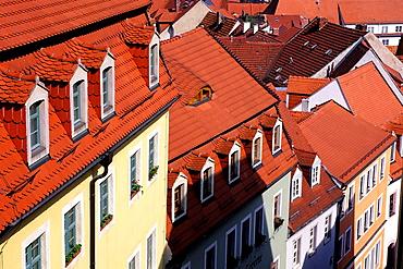 Germany, Meissen, View Of Rooftops.