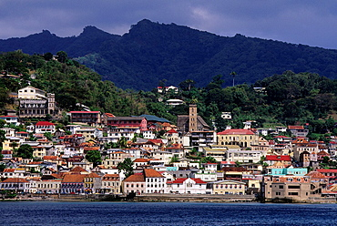 Grenada, View Of St. George's.