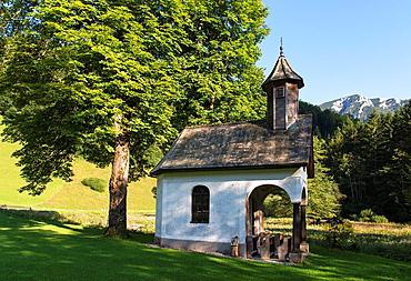 Chapel Annakapelle in Bodinggraben in Kalkalpen National Park. Near Molln. Austria.