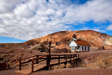 Historic one room school house, Calico Ghost Town, Calico, California, United States of America.