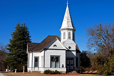Exterior of the Stephenville Church of 1900, Stephenville, Texas, United States of America.