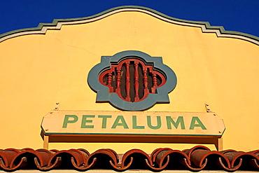 1914 Northwestern Pacific Train Depot, Petaluma, California, United States of America.