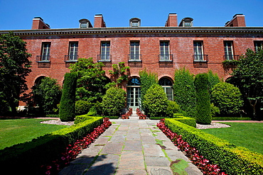 Rear side of Filoli, Woodside, California, United States of America.