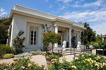 Rose Garden Tea Room and Cafe, The Huntington Library, Art Collection, and Botanical Gardens San Marino, California, United States of America.