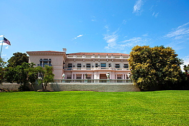 Exterior of the Huntington Art Gallery, The Huntington Library, Art Collection, and Botanical Gardens San Marino, California, United States of America.