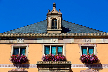 The Townhall in Obernai in the Alsace, France.