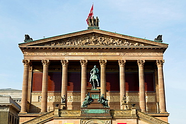Facade of the Alte Nationalgalerie Museum in Berlin, Germany
