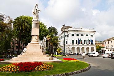 The Piazza di Nostra Signora dell Orto in Chiavari, Italy.