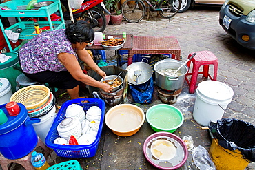 Sale of exotic Food on a Market in Phnom Penh, Cambodia.