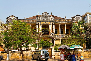 Old colonial Style Buildings in Phnom Penh, Cambodia.