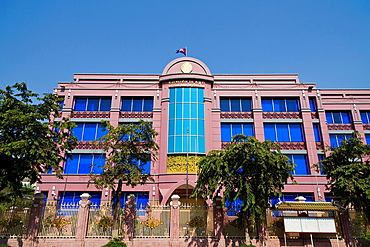 Building of the Cambodian National Bank in Phnom Penh, Cambodia.