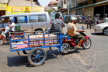 Typical Transportaion of Goods in Phnom Penh, Cambodia.