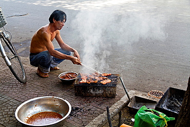 Barbecue on the Street in Ho Chi Minh City, Vietnam.