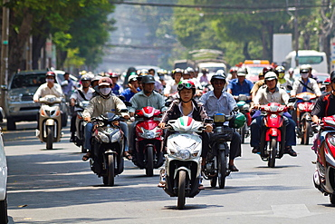 Motorcycles in Ho Chi Minh City, Vietnam.