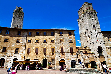 High Lordship Towers in San Gimignano in Tuscany, Italy.