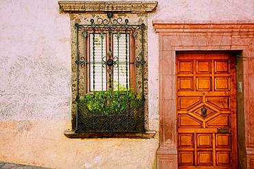 Charming street scenes in historic San Miguel de Allende.
