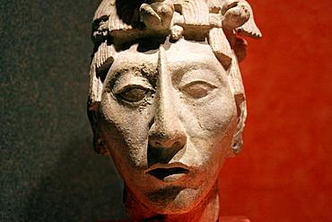 Closeup of Pacal the Great at Museo Nacional de Antropologia. Ciudad de Mexico.