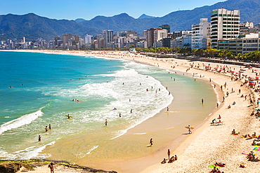 Ipanema and Leblon Beach from Arpoador, Rio de Janeiro, Brazil