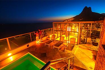 Hotel at Leblon Beach, Rio de Janeiro, Brazil