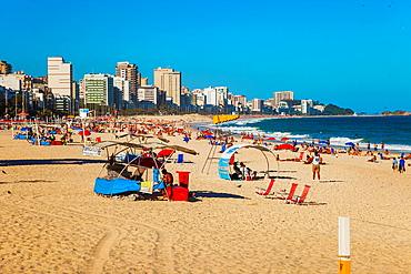 Leblon beach and Ipanema beach in background, Rio de Janeiro, Brazil