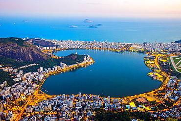 Lagoa Rodrigo de Freitas, Rio de Janeiro, Brazil