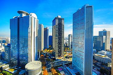 Japan, Tokyo City, Shinjuku District, West Shinjuku Station.