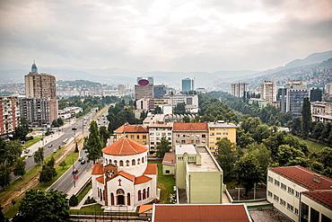 City skyline, Sarajevo, Bosnia and Herzegovina