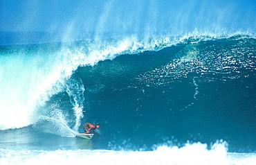 Big surf in Puerto Escondido, Mexico.