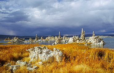 Approaching Snowstorm. Mono Lake. California. USA