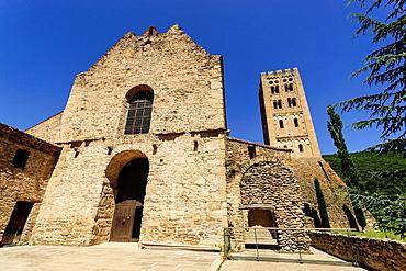 Saint-Michel church, Saint-Michel-de-Cuxa Benedictine Abbey, 879AD, Pyrenees-Orientales, France